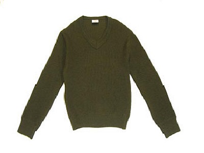French Wool V-Neck Sweater