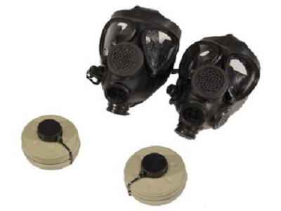 (2) M-15 Survival Gas Masks + (2) 40 mm NBC Filters f8dc66eca5bf