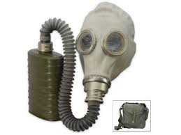 Polish Gas Mask (OM14) With Hose/Tube + Filter & Bag