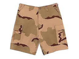 Tri Color Desert Camo BDU Shorts