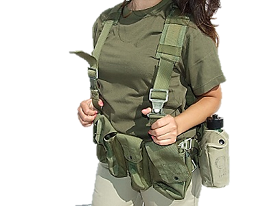G.I. Israeli Combat Harness - IDF Recon Vest With Insulation Canteen