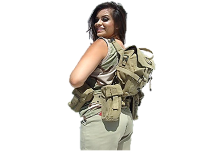 Israeli Khaki Harness Without Insulation Canteen