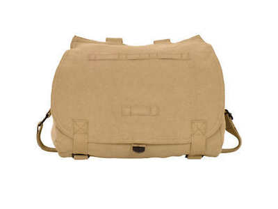 Khaki Vintage Retro Hungarian Messenger Bag