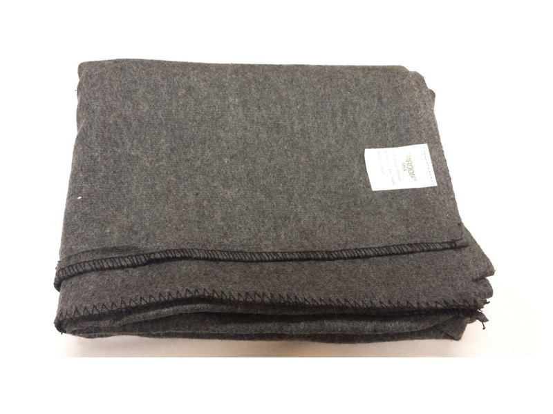 Military Wool Blanket, Grey